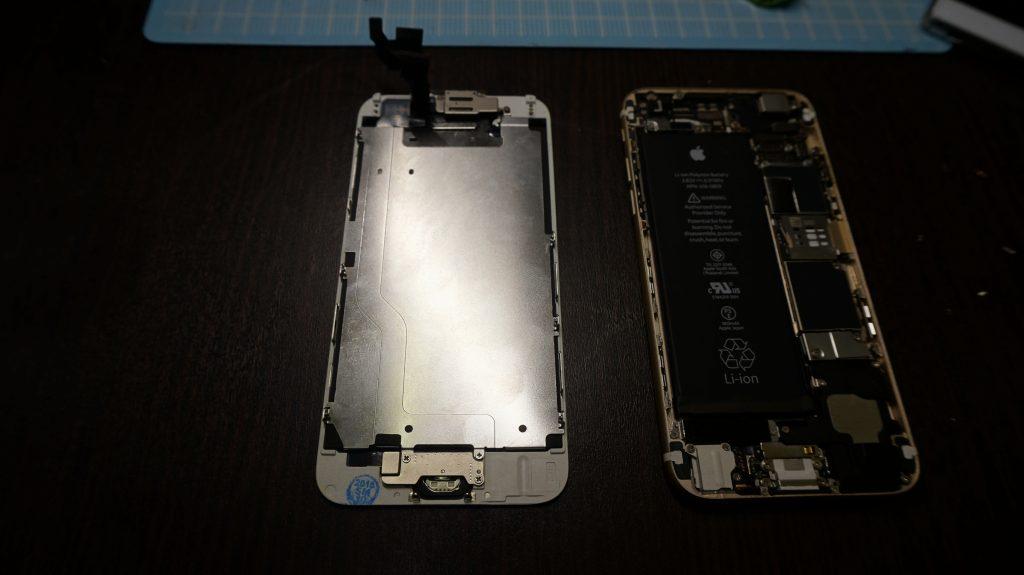 iPhone6液晶画面交換-9H保護ガラスサービスします4