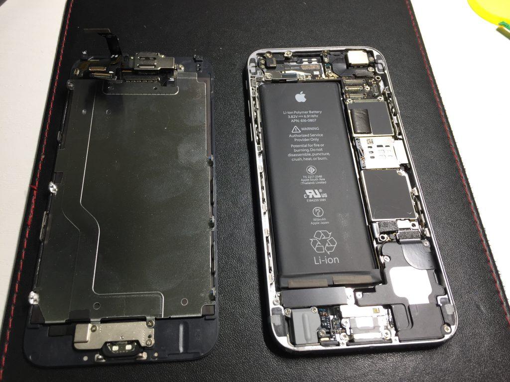 iPhone6黒液晶画面交換5