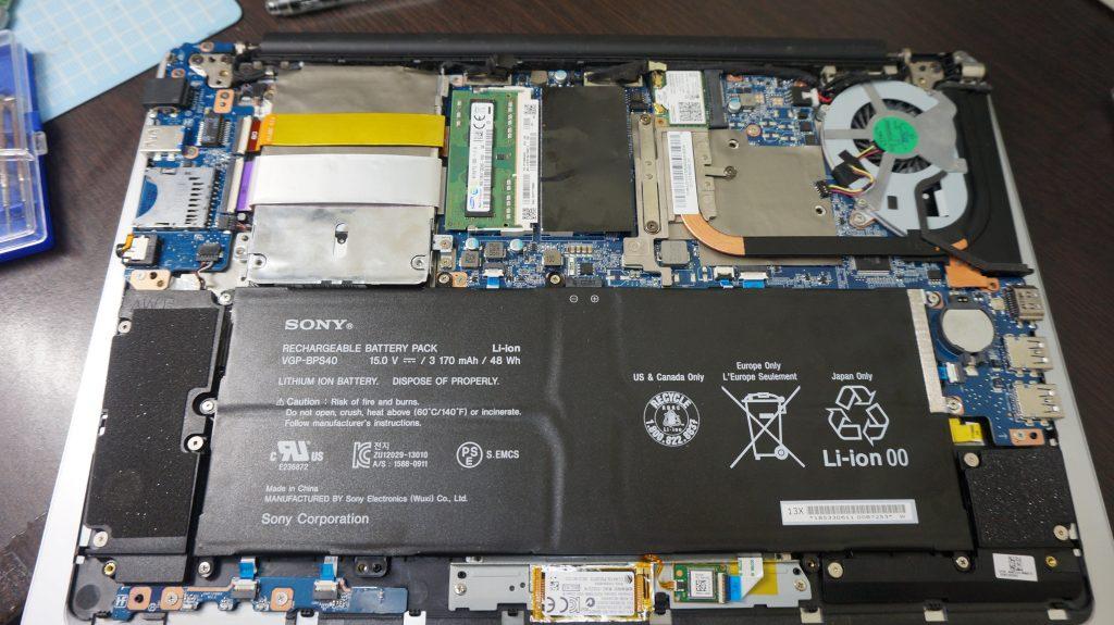 VAIO Fit15A USBが使えない キーボードが打てない 交換5