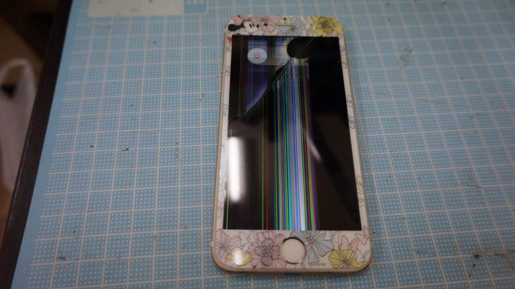 iPhone6白 高画質液晶画面パネル交換1