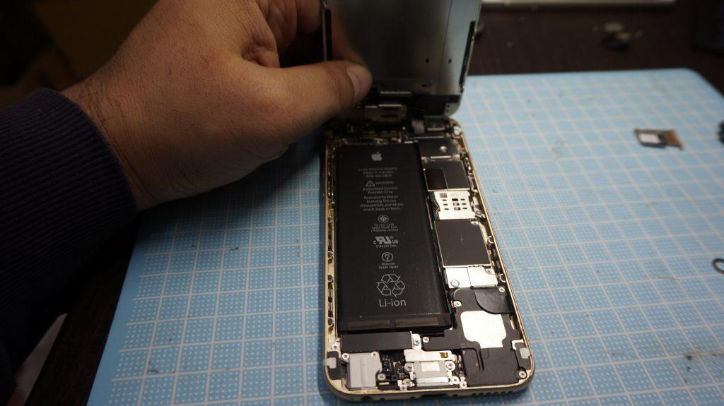 iPhone6白 高画質液晶画面パネル交換2