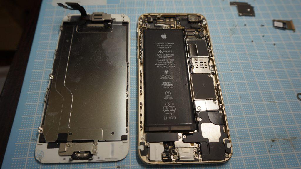 iPhone6白 高画質液晶画面パネル交換3