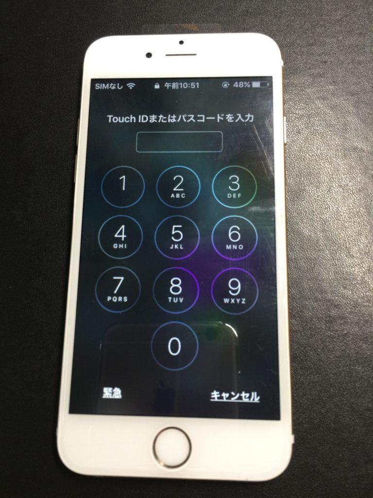 iPhone6白のパネル交換170105 8