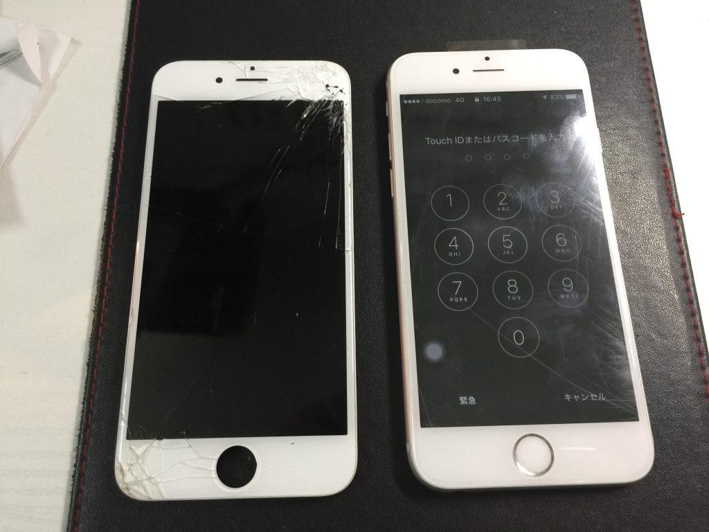 iPhone6 角から落ちて映らない液晶画面パネルを交換4