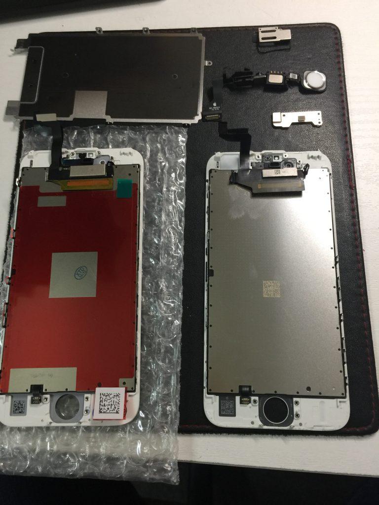 iPhone6s液晶画面 高品質新品パネルに交換。4