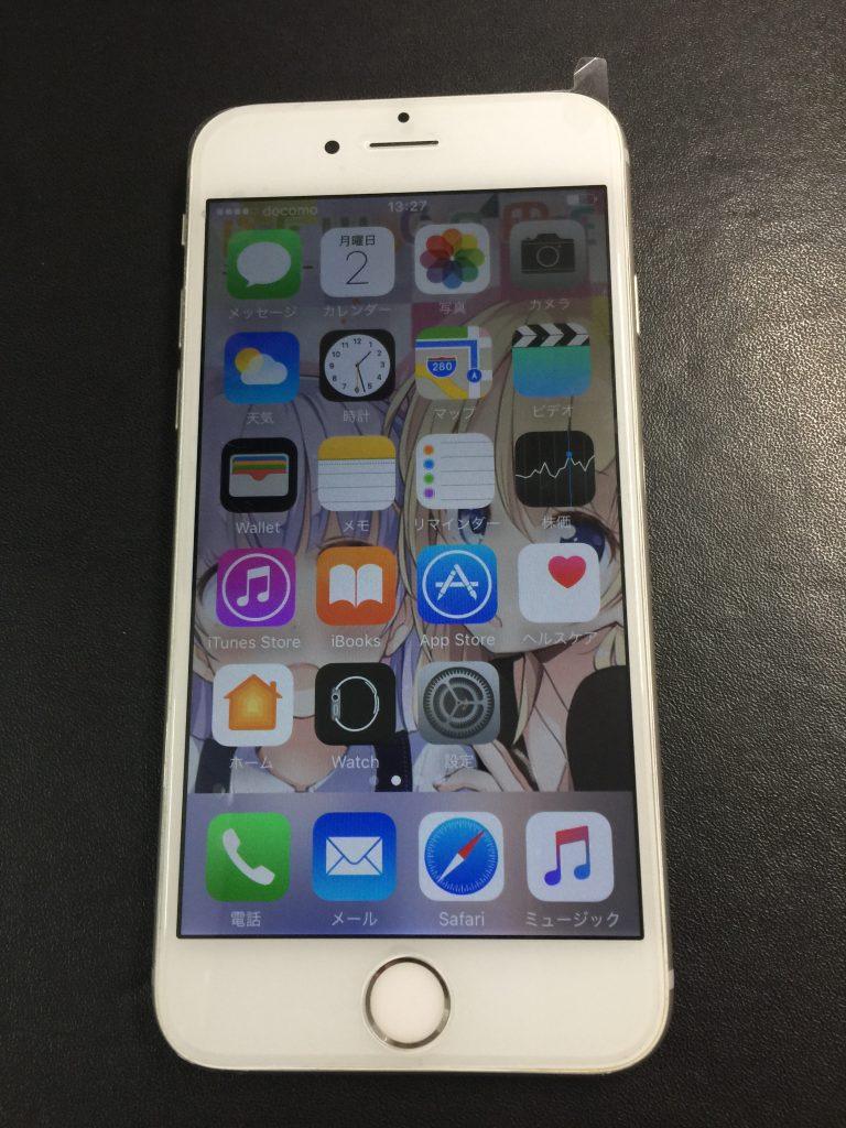 iPhone6s液晶画面 高品質新品パネルに交換。5