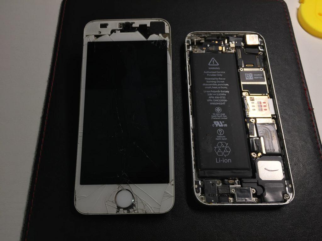 iPhone5s 液晶パネル交換激安で直します。オマケ付き!2