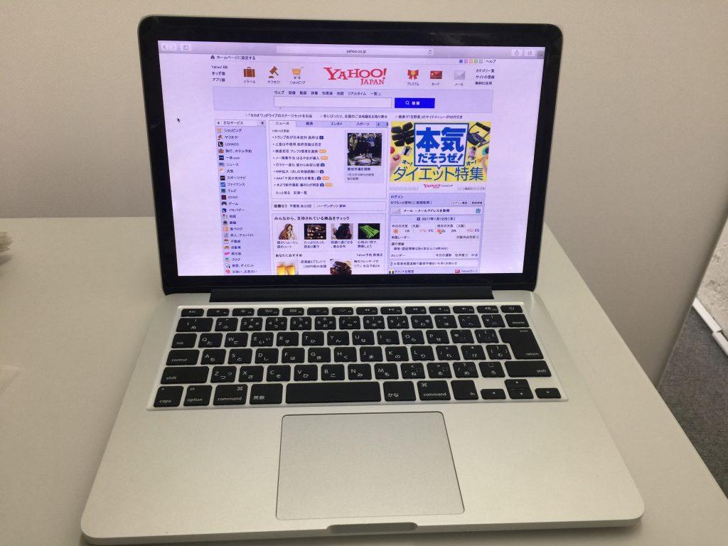 MacBook Pro A1502 2014年 Ratinaディスプレイ交換6
