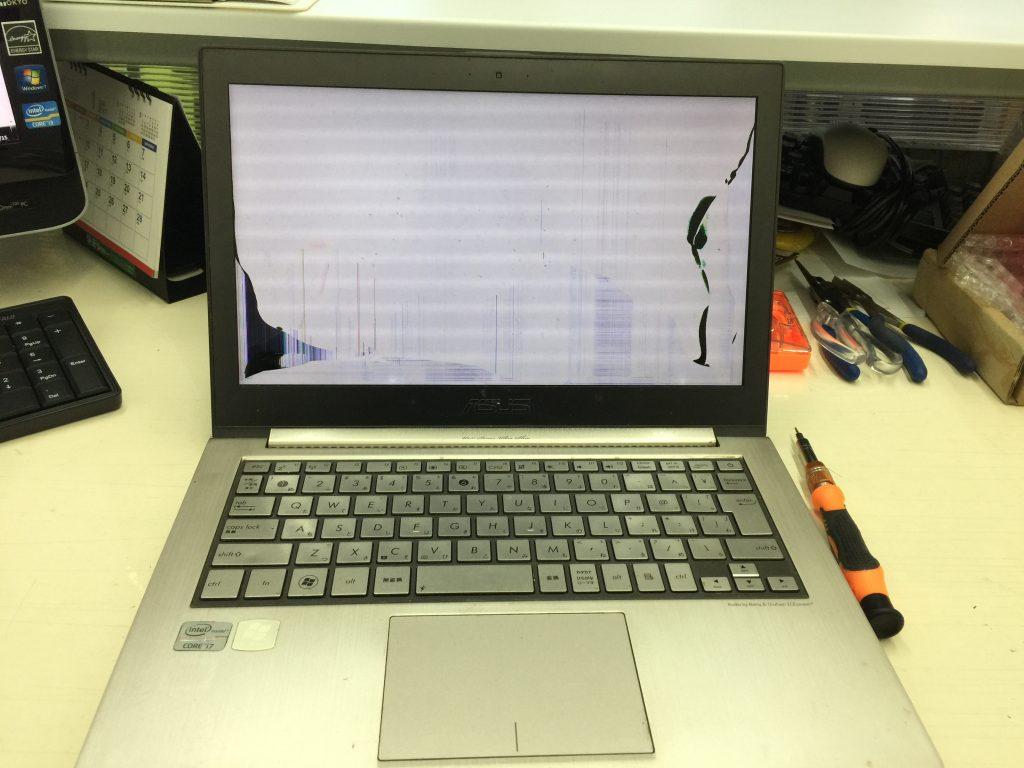 ASUS Zenbook UX31E 液晶画面パネル交換を格安修理1