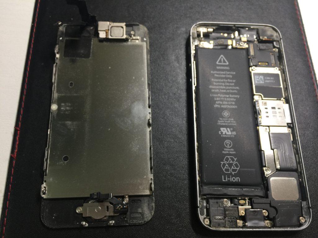 iPhone5s 充電がすぐなくなる バッテリー交換は最短15分!2