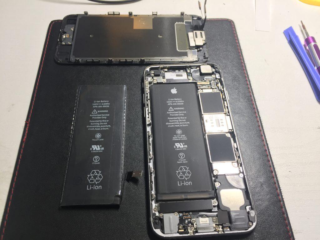 iPhone6黒 バッテリーがすぐなくなる時は交換しましょう!3