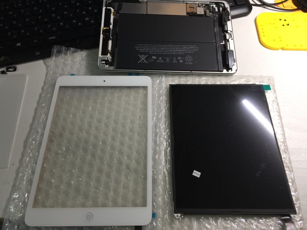 iPad mini2 デジタイザ、液晶画面交換です7