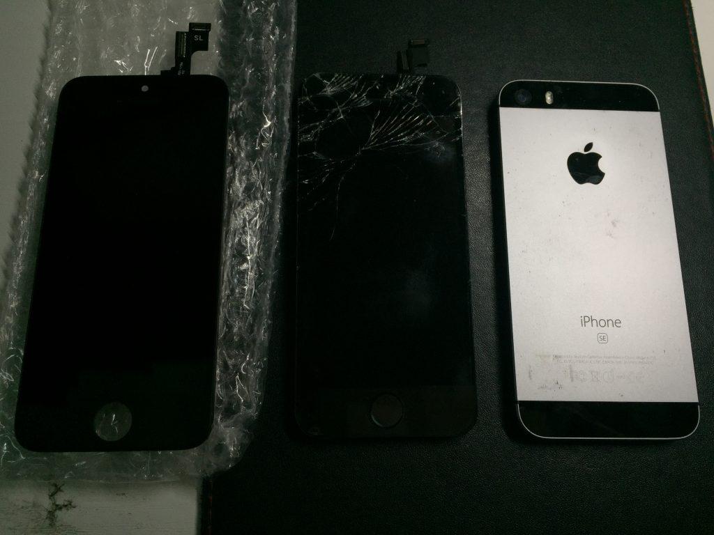iPhoneSE 液晶画面割れ 高品質新品パネル交換 3