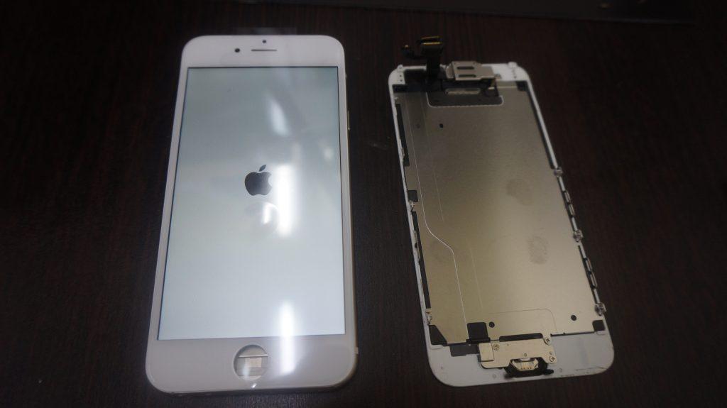 iPhone6 液晶パネル交換「iPhoneは使用できません」3