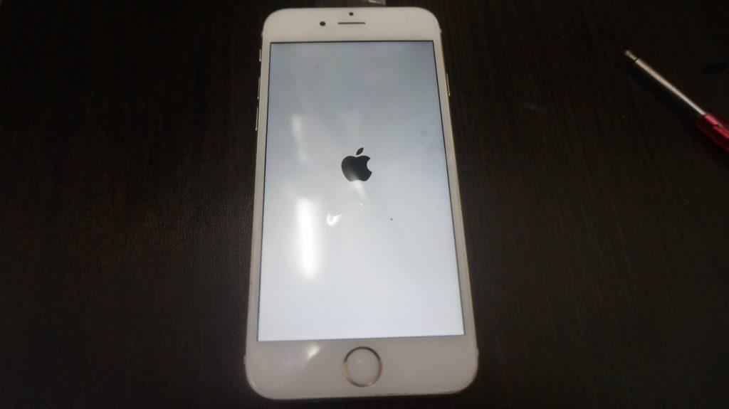 iPhone6 液晶パネル交換「iPhoneは使用できません」5