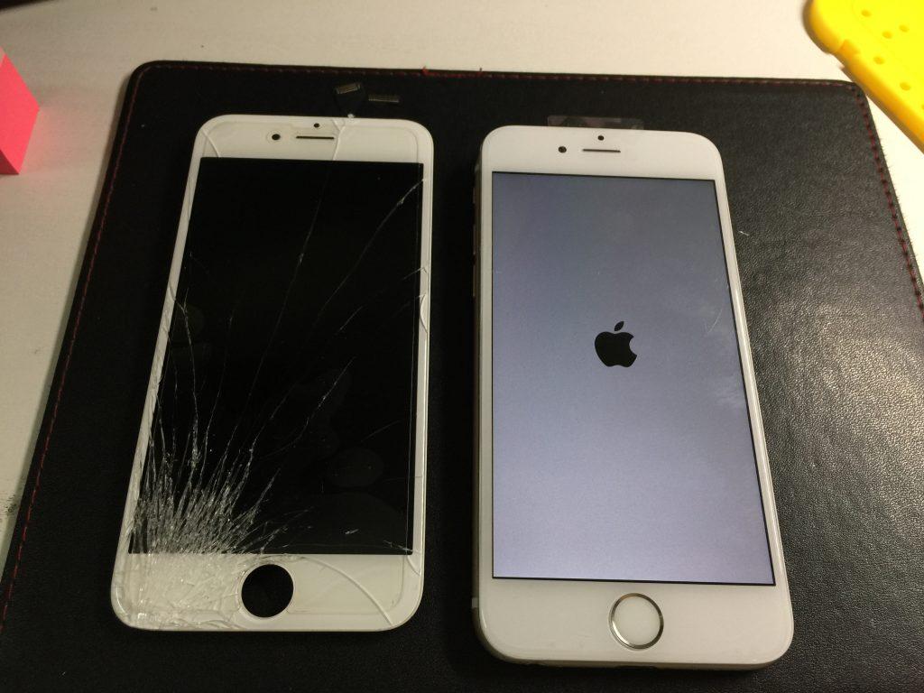 iPhone6 側面を打ってパネル割れ 液晶交換です3