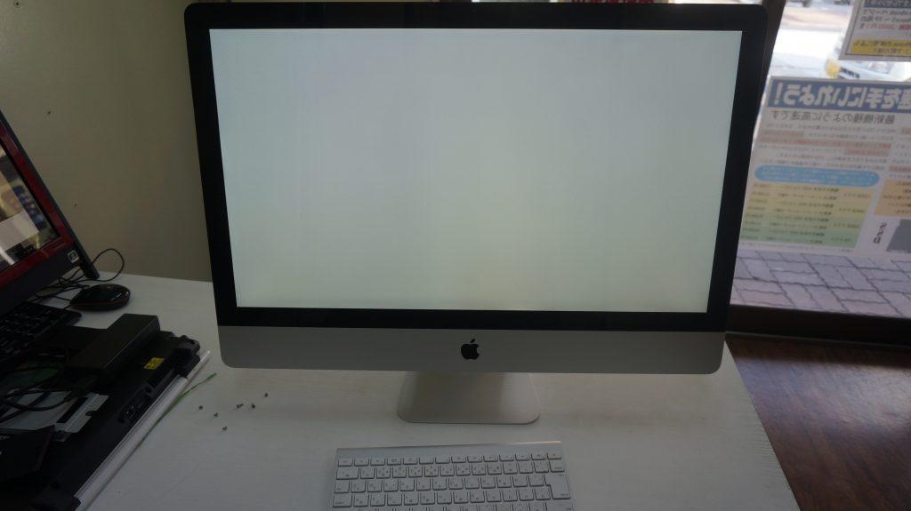 iMac A1312 Late 2009 画面が真っ白で起動しない HDD交換 OS再インストール1