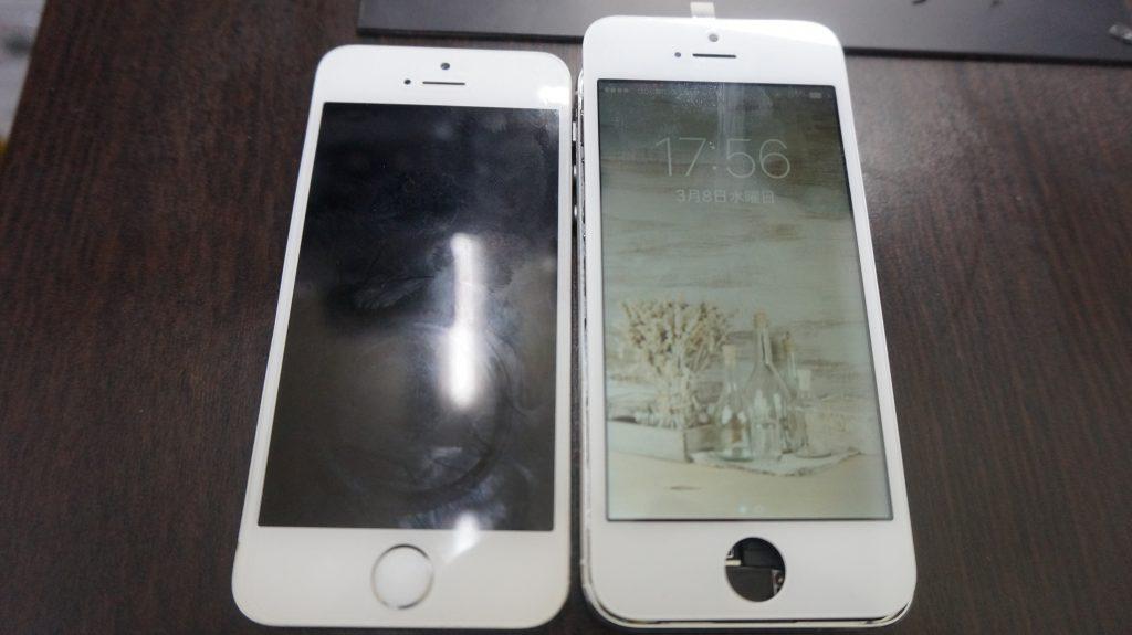 iPhone5s まだまだ現役:ガラス割れ液晶割れを新品パネルに交換します!3