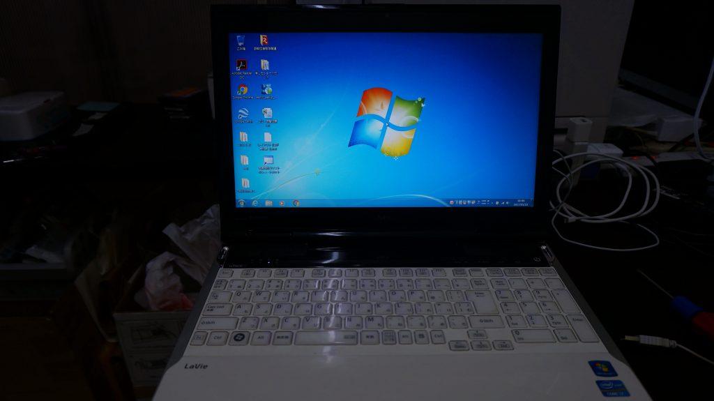 NEC LL750H iastor.sysの不具合でブルースクリーン→SSD換装4