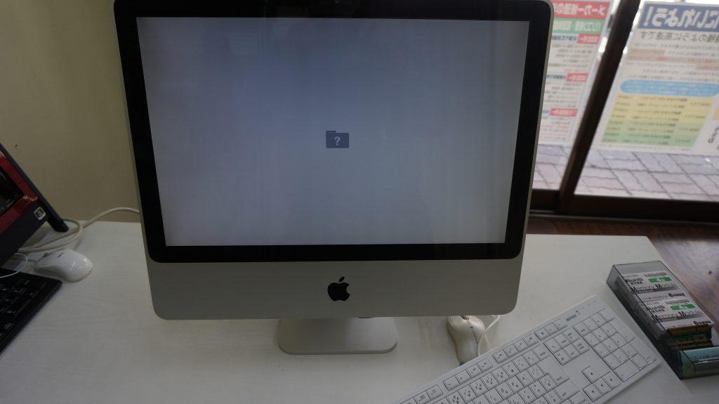 iMac A1224(2009) 自分で換装したSSDが起動しない(ビープ音等)2