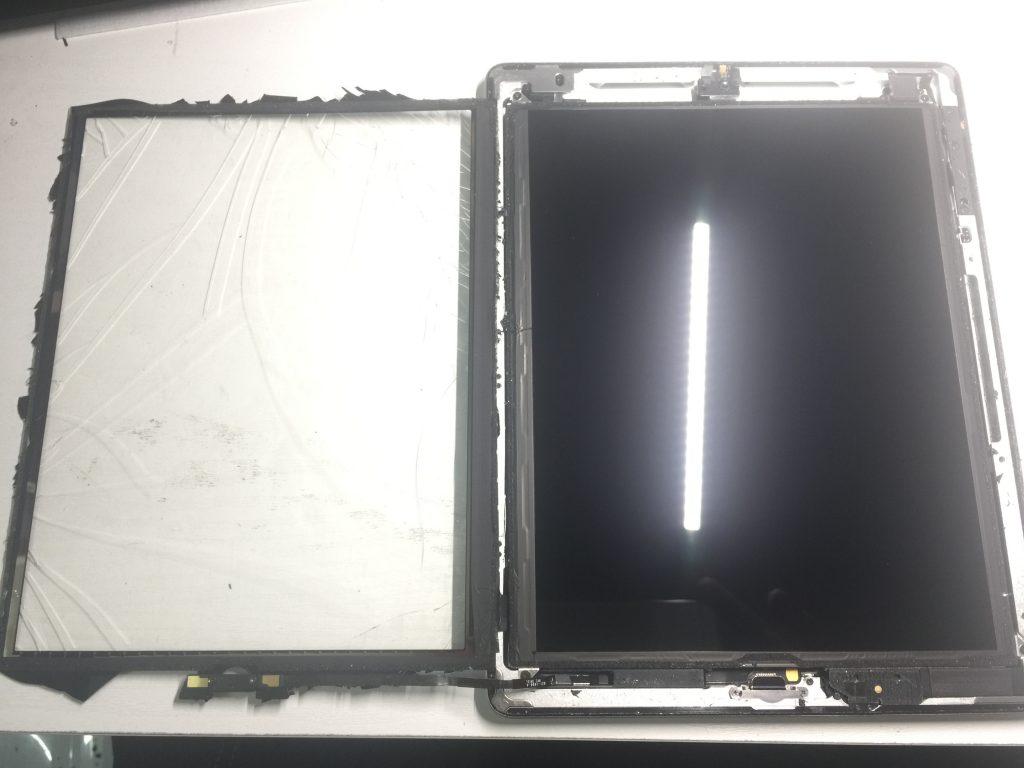 iPad4 ガラス割れでタッチ不能→デジタイザ交換2