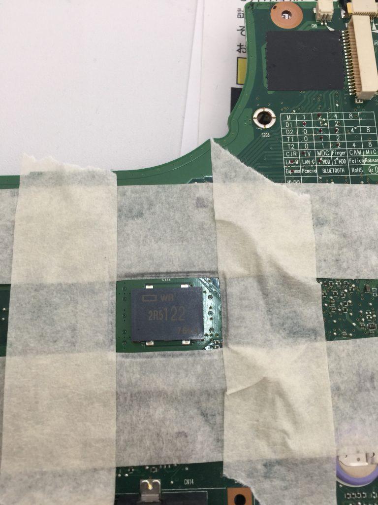 TOSHIBA Dynabook AX(TX)55E ACアダプタをつなぐと電源が落ちる プロードライザ交換4