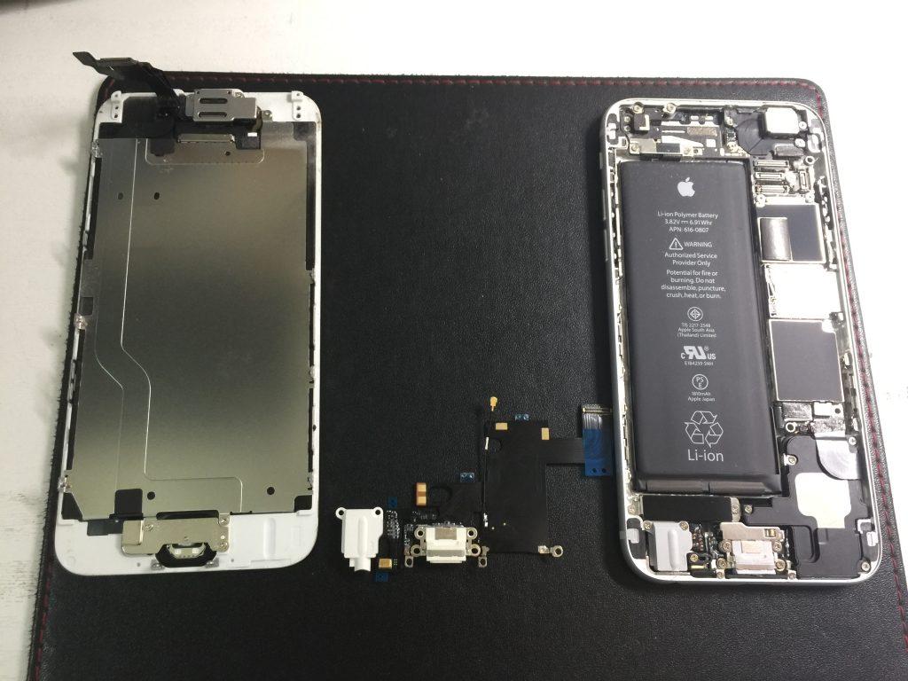 iPhone6 充電できないライトニングユニット交換 ドック異常2