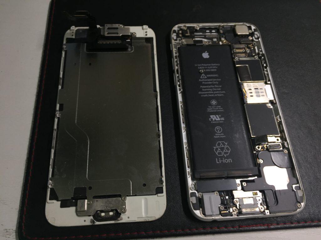 iPhone6 液晶画面とバッテリーを同時交換 フレーム修正等3