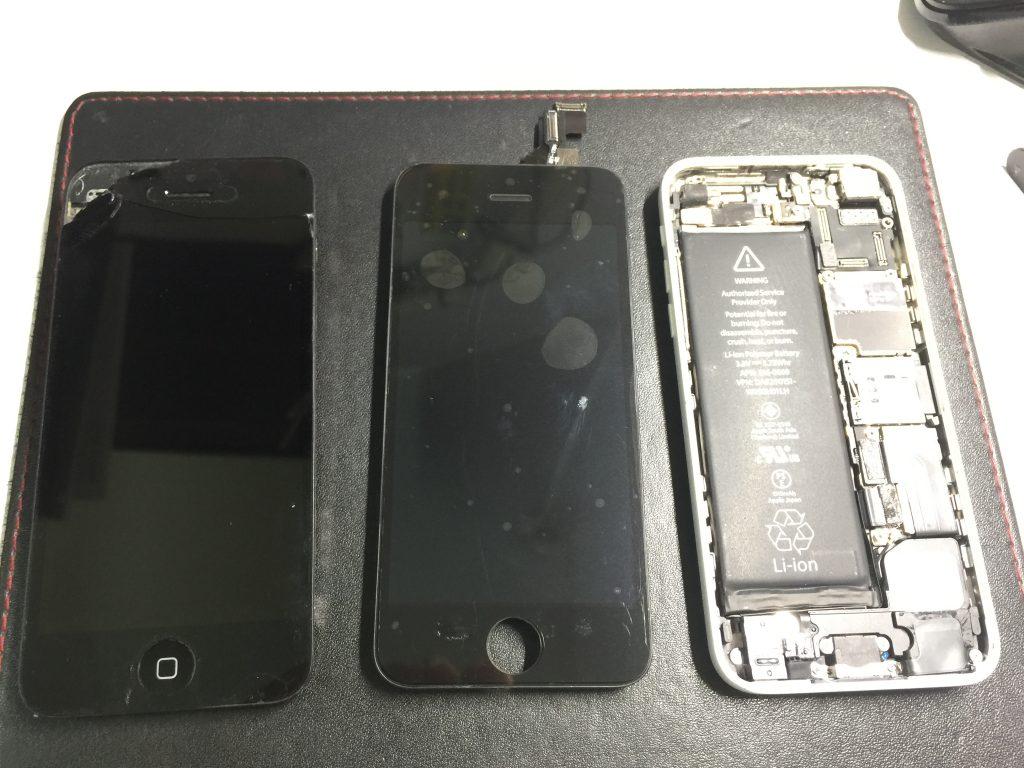 iPhone5c 液晶割れ画面割れパネル割れガラス割れ交換2