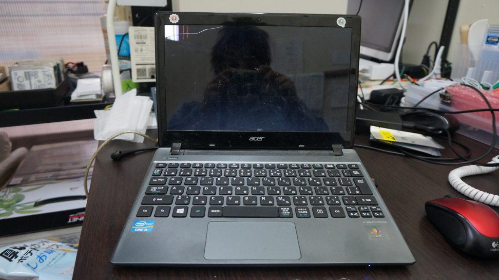 広島市液晶割れ修理 Acer ASPIRE V5-171 1