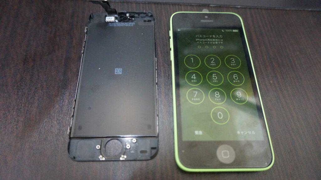 iPhone5c 液晶パネル交換6