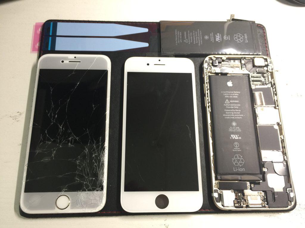 液晶割れ バッテリー交換 iPhone6 2