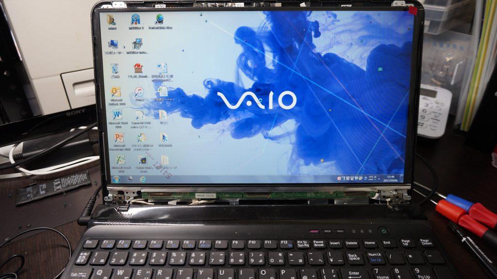 液晶割れ VAIO SVE151B11N 4
