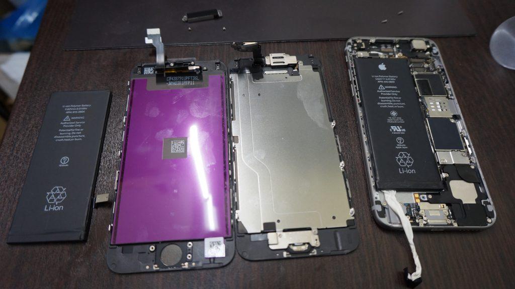 液晶交換 バッテリー交換 iPhone6 3
