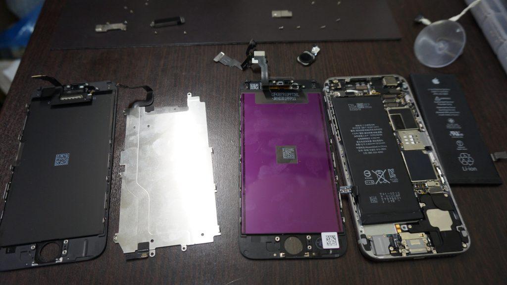 液晶交換 バッテリー交換 iPhone6 4
