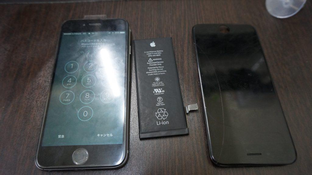 液晶交換 バッテリー交換 iPhone6 5