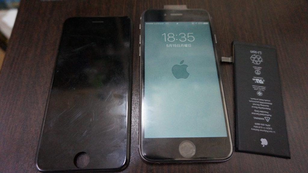 液晶交換 バッテリー交換 iPhone6 6