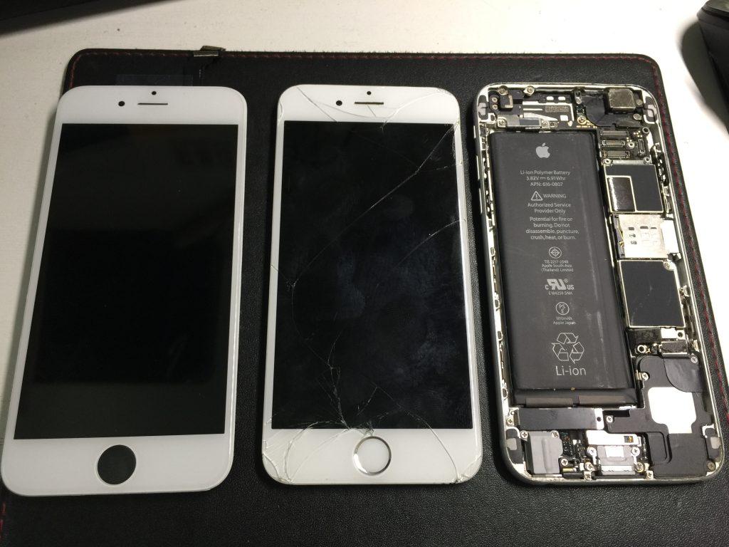 液晶ガラス交換 iPhone6 2