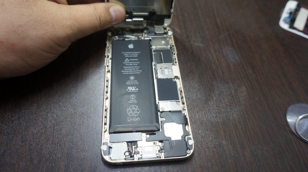 液晶ガラス割れ交換 iPhone6 3