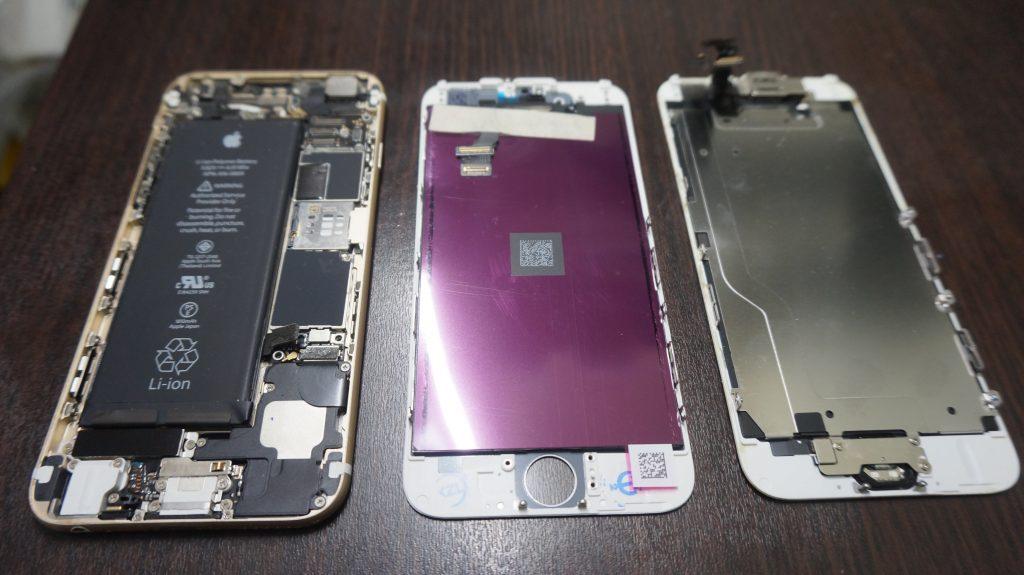 液晶ガラス割れ交換 iPhone6 4