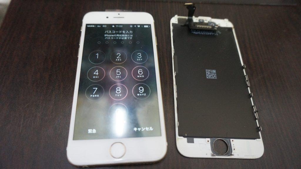 液晶ガラス割れ交換 iPhone6 7