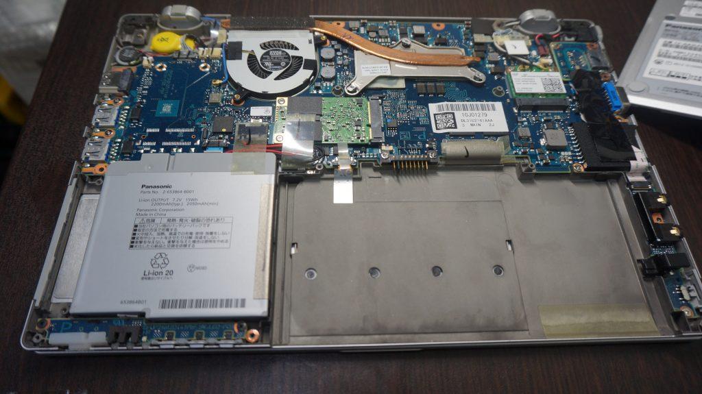 バッテリー交換 Panasonic CF-AX2 5