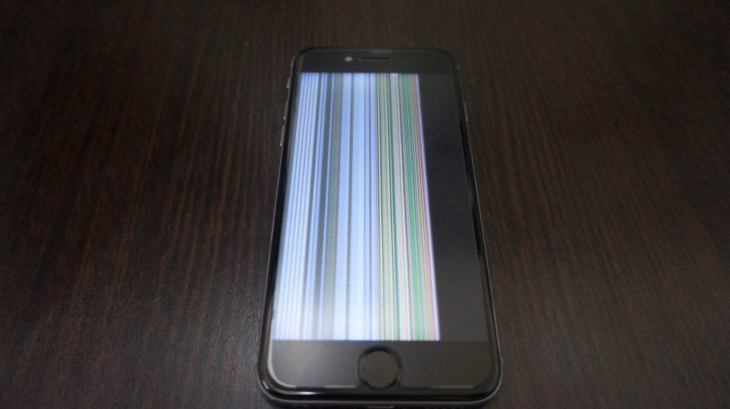 画面交換 液晶に縦線 iPhone6 1