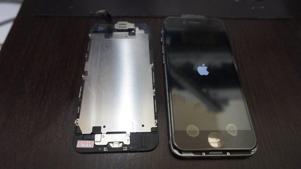 液晶パネル浮き iPhone6 4