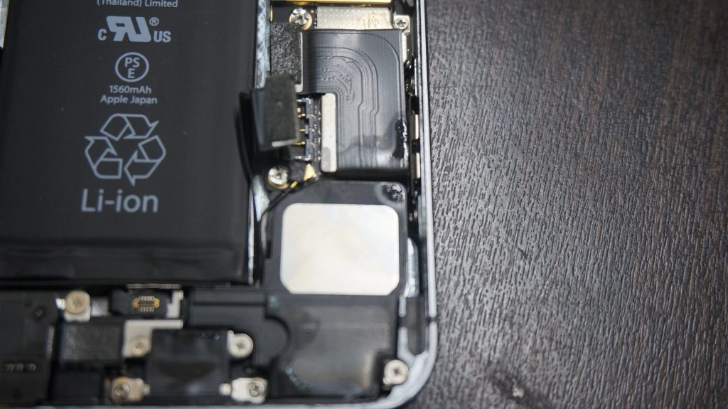 iPhone6 水没・バッテリー交換 4
