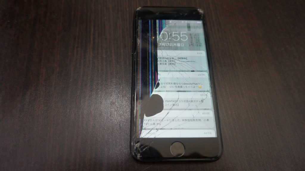画面割れ交換 iPhone7 1