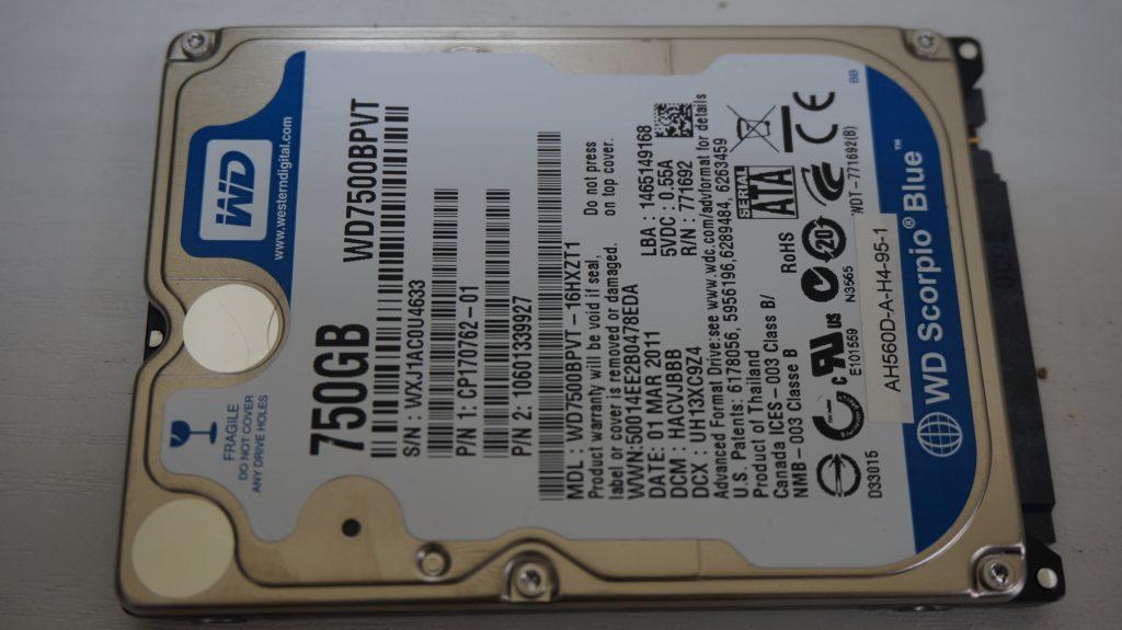 FUJITSU AH56/D HDD交換 データ復旧 4