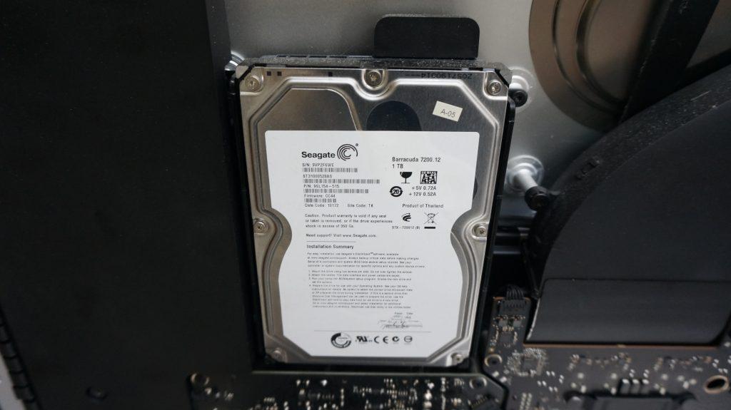 セクタ不良 HDD交換 iMac A1419 2013 5