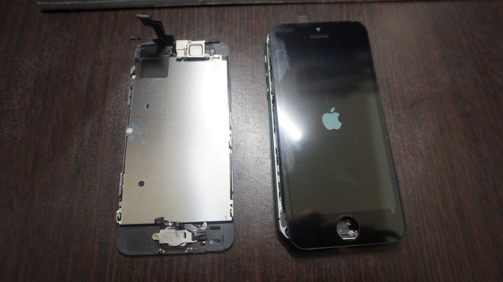 画面割れ液晶割れ iPhone5s 4