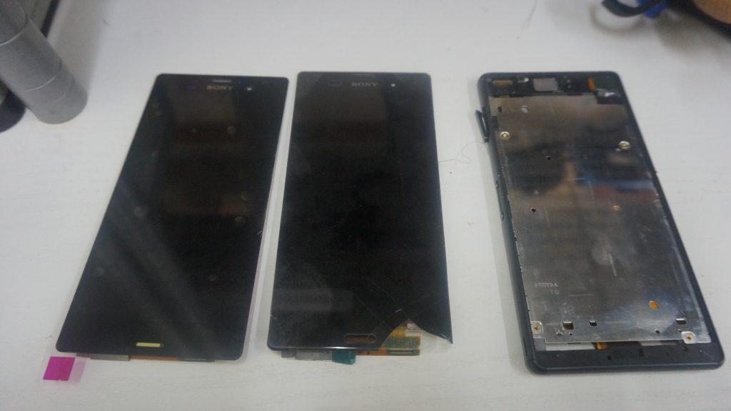 液晶割れを交換 SONY Xperia Z3 4